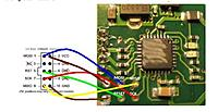 Name: Soldering the USBASP leads to the correct spots on the Ga250.jpg