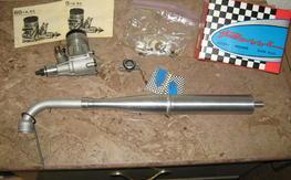 Nib rossi .60 w/ tuned pipe