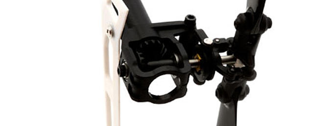 Torque-tube drive tail with ball-bearing support.