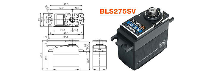 Futaba BLS275SV S.Bus2 High-Voltage Heli Servo