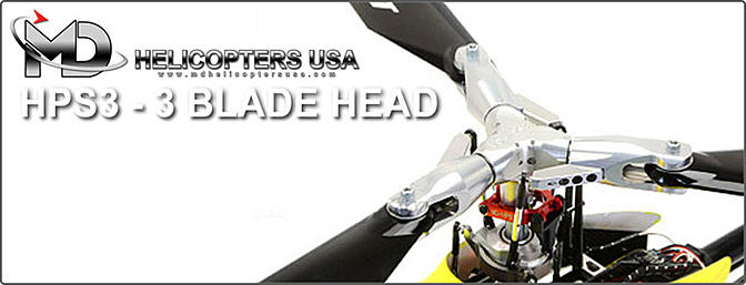 MD Helicopter 3-Bladed Head 700/800 Class