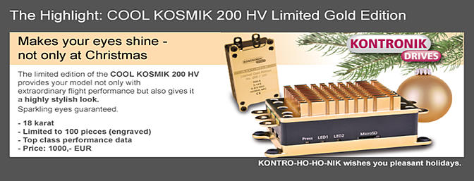 Limited Edition GOLD Kontronik KOSMIK 200 HV