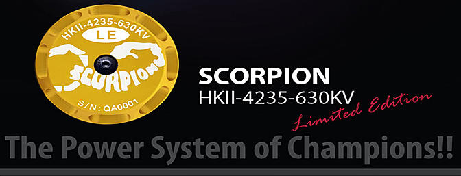 New Release!!! Scorpion HKII-4235-630kv Limited Edition