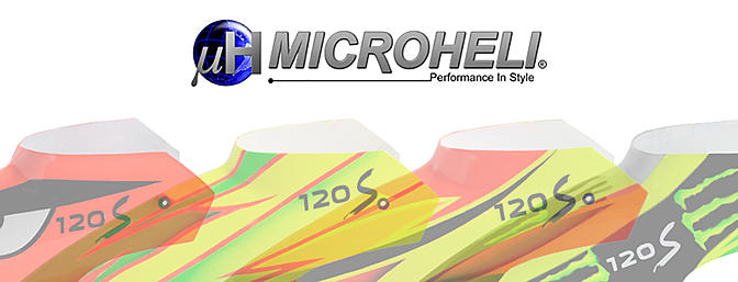 MicroHeli Airbrush Fiberglass Canopies for 120S