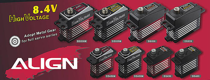 New Align High Voltage Digital Servos
