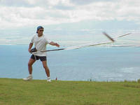 Name: Keith doing his usual hot hand catch with a Sharon.jpg