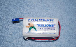 Fromeco 7.4v 5200 mah Relions battery