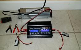Hitec x2 400w  dual charger and power supply