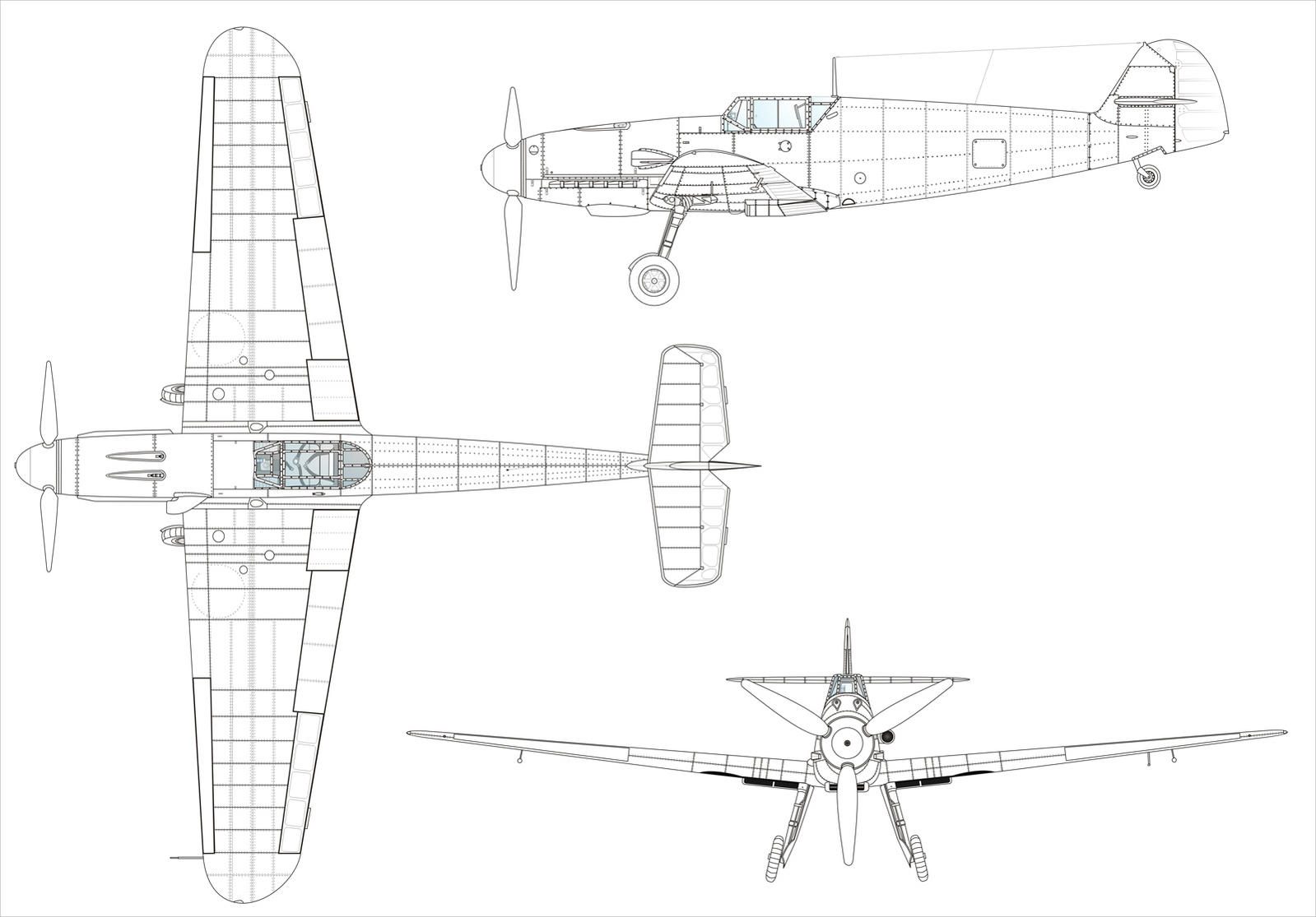attachment browser  0-line-drawing-bf-109f-large-blue-print-07 jpg by cartoon