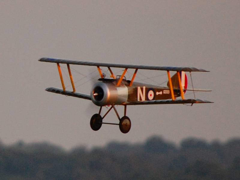 Sopwith Camel at dusk