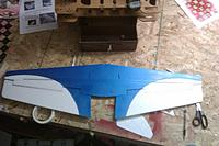 Name: IMAG0230.jpg Views: 67 Size: 169.7 KB Description: a shot of the wing after two coats of blue