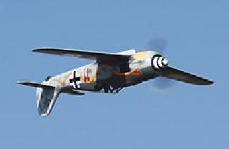 The Focke Wulf will fly inverted, however the ample dihedral causes the plane to want to right itself.  The 190 is capable of all the aerobatics an aileron/elevator plane can do.  With its quiet electric system, the FW can be flown in your local school ya