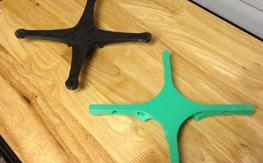 3D printed ~220mm quad frames