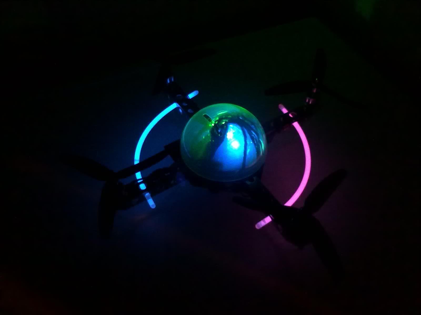 groovy! colour changing led! and glowsticks...