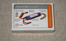 Hyperion Atlas 45 amp 4s brushless programmable speed control