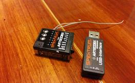 "Spektrum AR7200BX ""micro beast"" Flybarless controller with USB link tool"