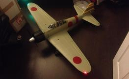 Brand new unflown FMS A6M2 zero with lots of spares