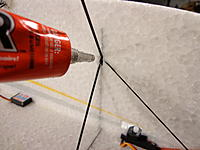 Name: DSC05443.jpg Views: 41 Size: 337.8 KB Description: OPTION #2 - With the tip of the Welders tube, squeeze some glue into and all around the intersection of the three pieces......