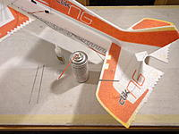 Name: DSC05445.jpg Views: 35 Size: 471.3 KB Description: Install the rudder bracing (#7)... note only one side requires a brace, if wanting to do both sides, you will need to make the second piece from your own stock