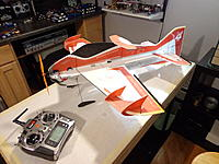Name: DSC05572.jpg Views: 46 Size: 528.8 KB Description: Locate the battery so that the CG is 245mm from the nose of the aircraft. You can cut a hole, or if wanting to experiment with different CG points or batteries, mount the battery with Velcro