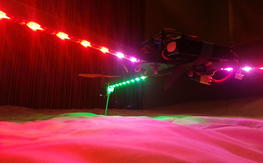 Tricopter UFO with Ardupilot and programmable lights