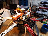 Name: Under Construction - batt and GPS ready to be fastened down.JPG