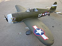 Name: Finished P-47, AD4B, and Machine Gun 2013-04-20 007.jpg