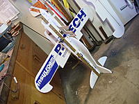 Name: RIMG0007.jpg Views: 104 Size: 267.6 KB Description: Nose aligned with tail using rulers and clamps.