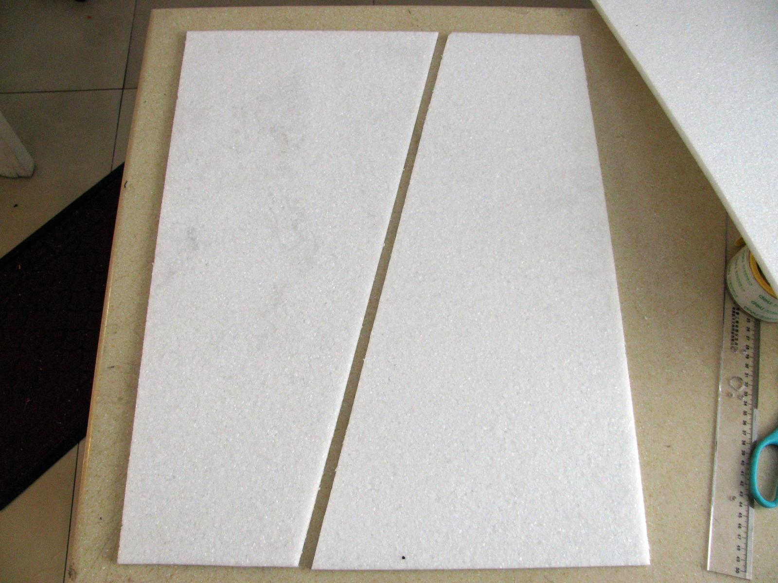 BoneYard 5 laminated EPP finless wing from single 600mm by 1000mm sheet