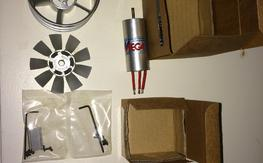 Mega Motor 16/40/1 and Mach Alloy 70mm fan unit