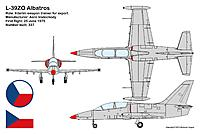Name: Aero Vodochody L-39ZO (3-view, copyright 2013 Skytamer Images).jpg Views: 32 Size: 307.7 KB Description:
