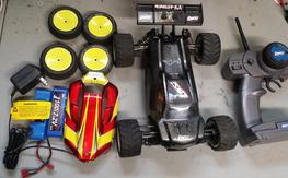 relist due to non pay Losi mini8  with truggy and buggy parts
