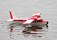 """Name: IMG_3422.jpg Views: 149 Size: 182.3 KB Description: 14. Sopwithmike's OD depron Britten-Norman Islander. 48"""" span, based on the Ross Islander seaplane project. Takes apart into 7 pieces to fit into a carry-on box."""