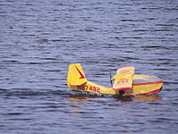 Name: 27 Jul 13 051.jpg Views: 50 Size: 174.4 KB Description: 45. Nick Chud's depron Republic Seabee, also at the BIMBO weekend. Rolled and looped, has scale retract maingear