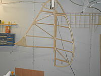 """Name: DSCN3412.jpg Views: 196 Size: 113.9 KB Description: The fin and rudder are basically done, waiting for inspection..Fully laminated outlines- 5 plies of 1/8 """"spruce."""