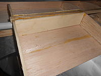 Name: DSCN4366.jpg Views: 20 Size: 398.3 KB Description: The socket is closed up...Now, with some sanding to true it up, we'll add the top sheeting, and some mounts for the struts.