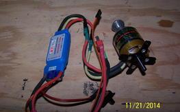 AXI 2820/10 Brushless moter and Jeti  70 Amp ESC