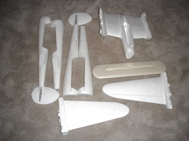The plane is made from 8 main pieces of molded foam.