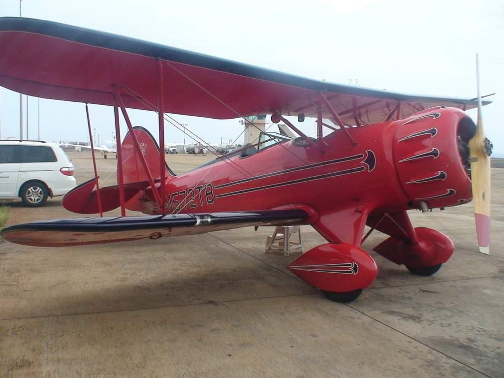 The Waco biplane we flew in was built in 2002.