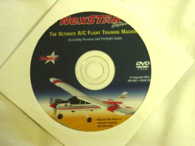 Included DVD that explains some of the basics about your new plane and system. 