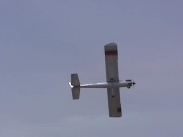 Banking hard to test the AFS system and it quickly recovered to near level flight.