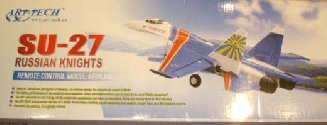 The cover of the box has a nice colored picture of the SU-27 on it.