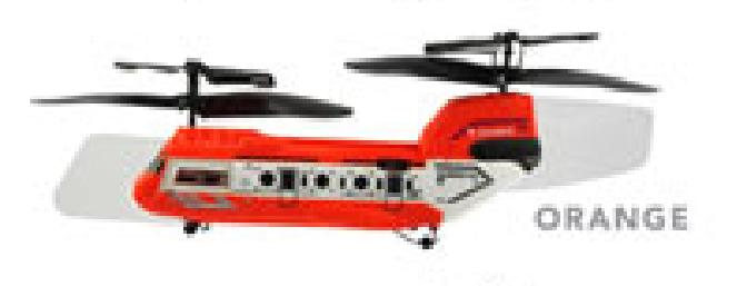 The Tandem Z-1 comes in three colors, and each color is on a different band so the three of them can fly together.