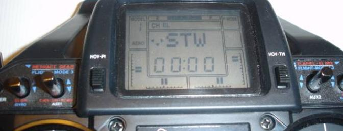The stopwatch function on the transmitter