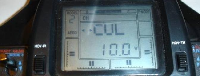 The main screen has the voltage showing for the transmitter as displayed here.