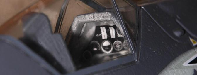 A partial picture of the dashboard in the FW 190.