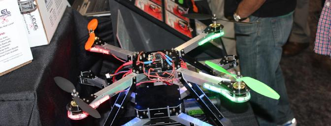 The two models in the new Next Level Quad Copter line from Innov8tive Designs Inc.