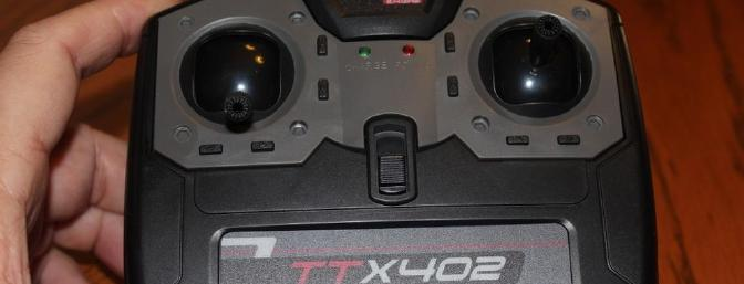 This TTX 402 transmitter came with my Flyzone Dr. 1 and works with the Nieuport 17.