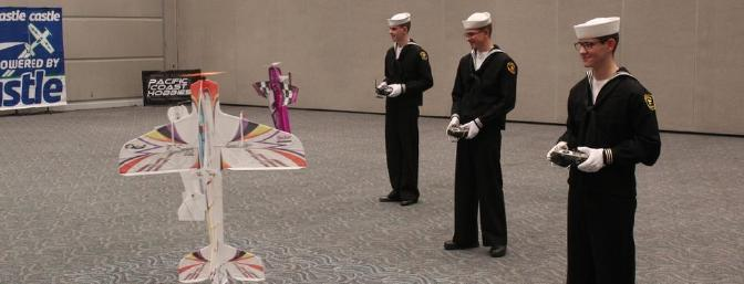 The Sea Cadets visit the indoor flying site.