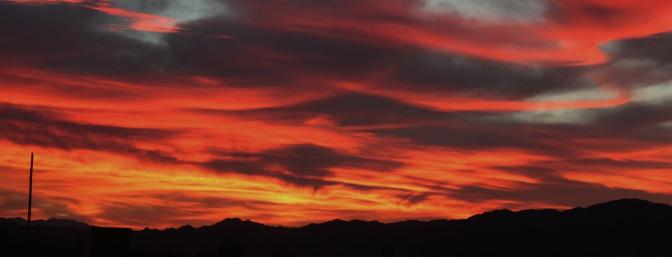 Another wonderful Arizona sunrise at this year's AEF! Wait: Red sky in morning, pilots take warning!